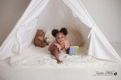 Novi Michigan One Year Baby Cake Smash Boho Lifestyle Photography Studio--2