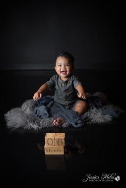 six month baby milestone professional photography studio Michigan--8