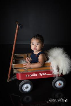 six month baby milestone professional photography studio Michigan--13