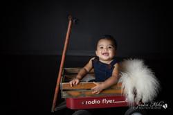 six month baby milestone professional photography studio Michigan--12