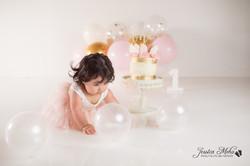 Ann Arbor Michigan One Year Baby Cake Smash Boho Lifestyle Photography Studio--15