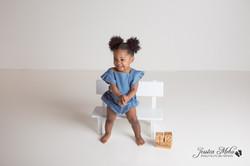 Novi Michigan One Year Baby Cake Smash Boho Lifestyle Photography Studio--13