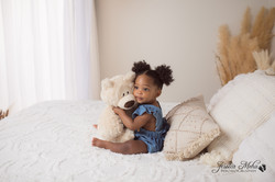 Novi Michigan One Year Baby Cake Smash Boho Lifestyle Photography Studio--7