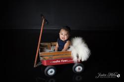 six month baby milestone professional photography studio Michigan--14