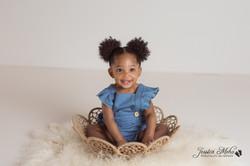 Novi Michigan One Year Baby Cake Smash Boho Lifestyle Photography Studio--11