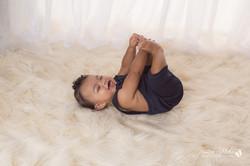 six month baby milestone professional photography studio Michigan--17
