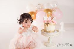 Ann Arbor Michigan One Year Baby Cake Smash Boho Lifestyle Photography Studio--18
