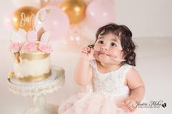 Ann Arbor Michigan One Year Baby Cake Smash Boho Lifestyle Photography Studio--19