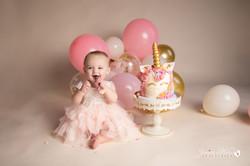 Unicorn Cake Smash Birthday Photos Ann A