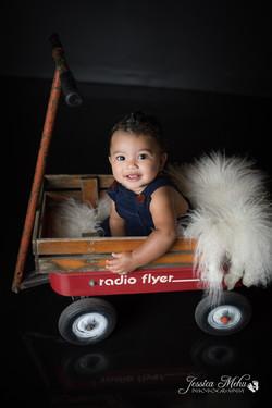 six month baby milestone professional photography studio Michigan--15
