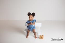 Novi Michigan One Year Baby Cake Smash Boho Lifestyle Photography Studio--12