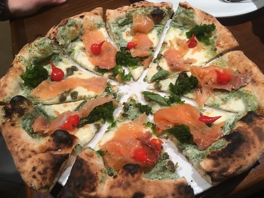 AONORI AND SALMON PIZZA