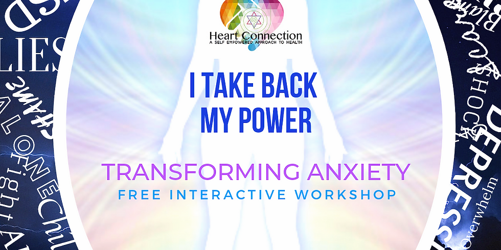 Transforming Anxiety Free Interactive Workshop 18th October 2019