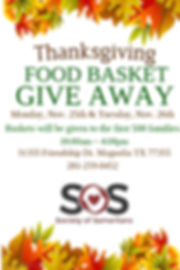 Thanksgiving Food Basket Give Away Dates