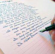 Psalm 104 eine Hand schreibt