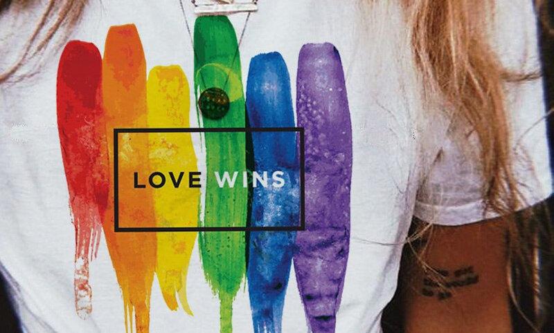 Womens Love Wins Rainbow T-Shirt