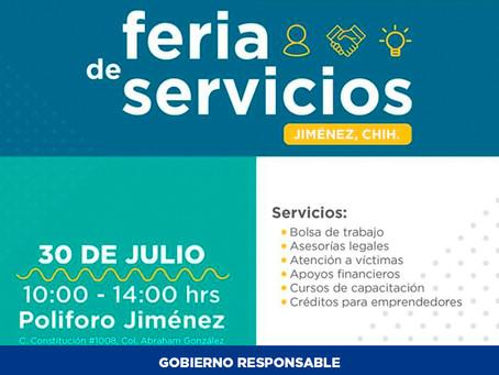 STPS invita a la primera Feria de Servicios en ciudad Jiménez