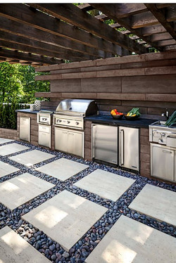 Built-in Grill and Prep Area