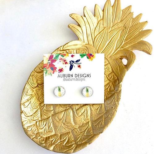 Pineapple Resin Studs