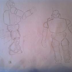 Roboter Skizze - wird das noch was?