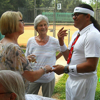 Antiquarer Tennisspieler