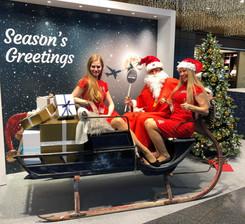 Weihnachtsanimation Flughafen