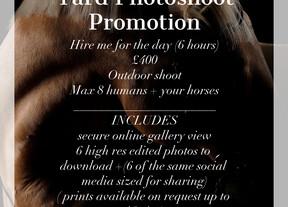 Yard Photoshoot Promotion