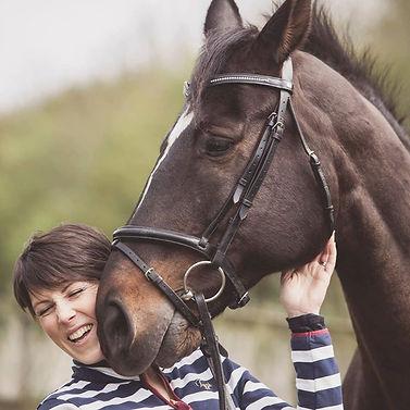 Jo Fair with horse