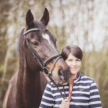 Jo Fair and her horse
