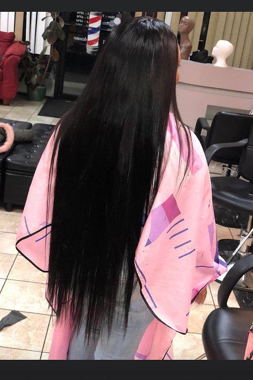 Hair deposit for install