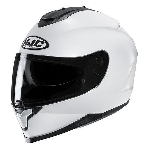HJC C70 Plain Gloss White