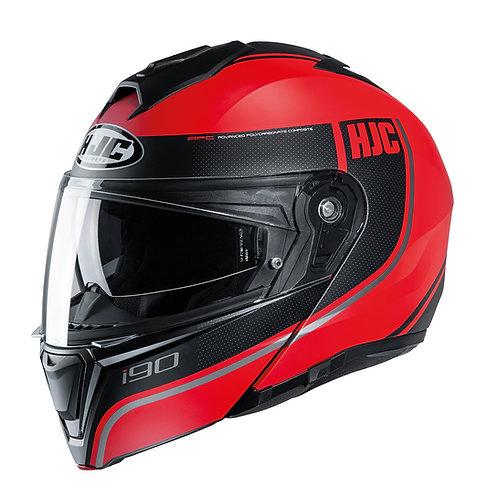 HJC i90 Davan Red