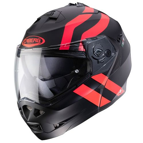 Caberg Duke 2 Flip-Up Super legend Matt Black/Red Flo
