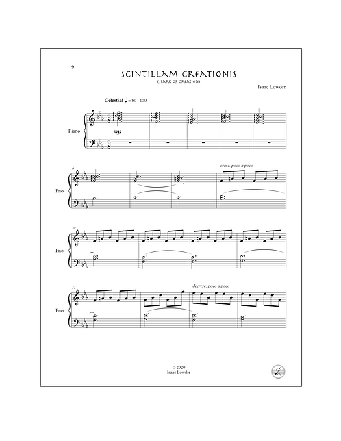 Scintillam Creationis (Spark of Creation) Piano Solo
