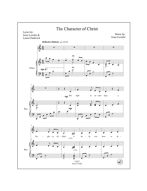 The Character of Christ (C Major)