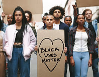 Black lives matter protest. Young people