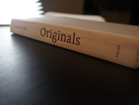 What I'm reading: Originals - How Non-Conformists Move the World by Adam Grant
