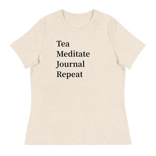 Tea Journal Meditate Repeat