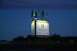 Large Outdoor Sign with Solar Lights