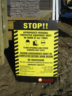 Coroplast Construction safety sign