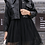 Thumbnail: Sweater Mesh Dress With Leather Jacket Set