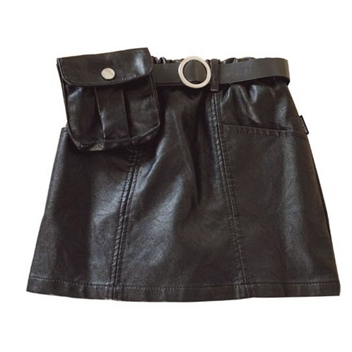 CoinPurse Leather Skirt