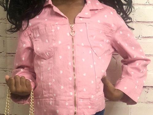 Pink Denim Sweetheart Jacket