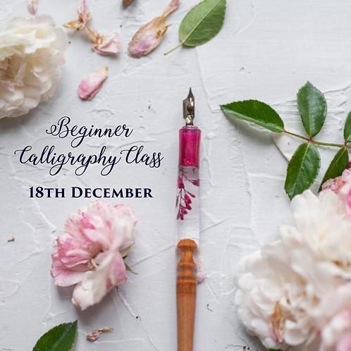 Beginner Calligraphy Class -Dec 18th