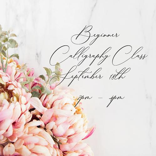 Beginner Calligraphy Class - September 18th