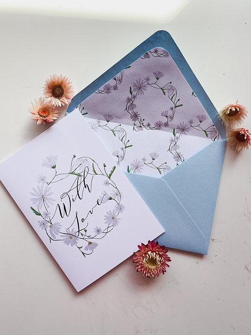 With Love Daisy Chain Card