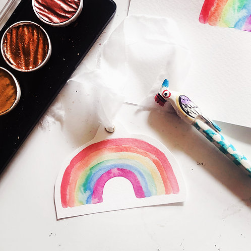 Pack of 6 Rainbow tags
