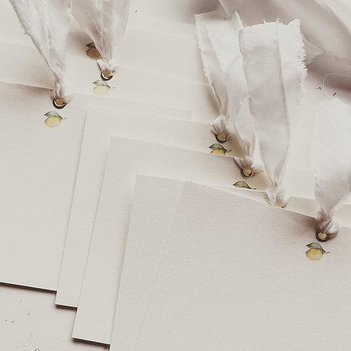 Lemon Stationery - 10 Correspondance Cards