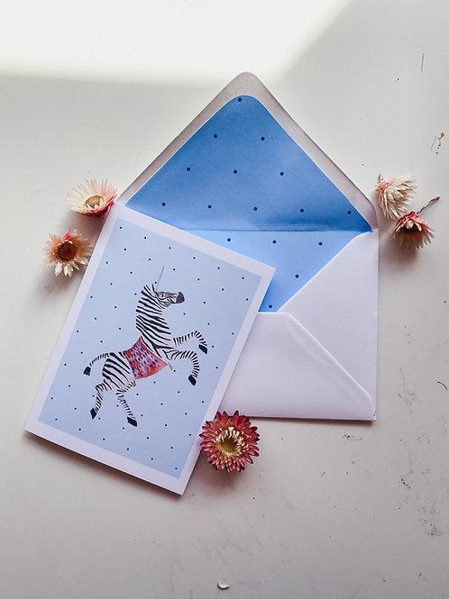 Zebracorn card