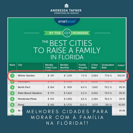 Melhores cidades para Morar com à família na Flórida!